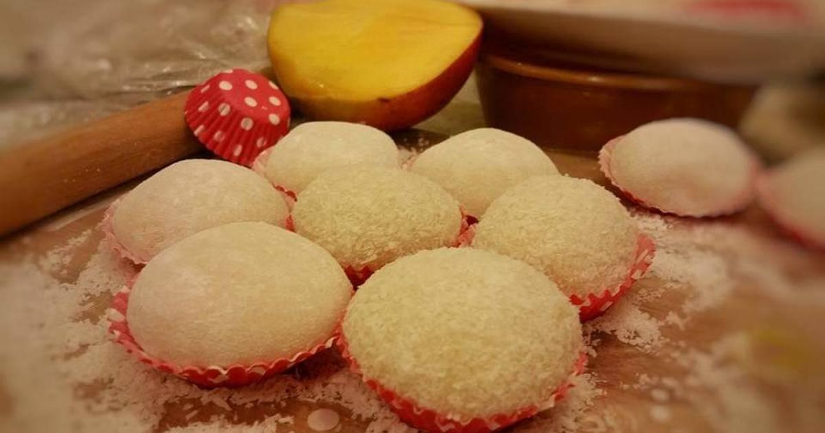 cara membuat mochi mangga