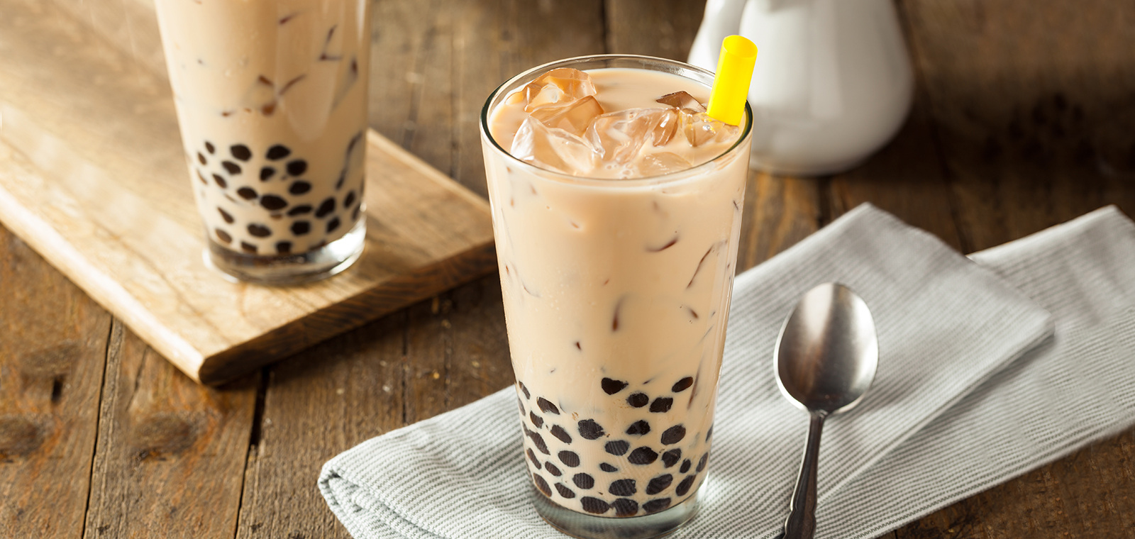cara membuat bubble tea taro