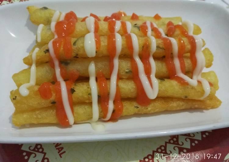 membuat kentang keju crispy